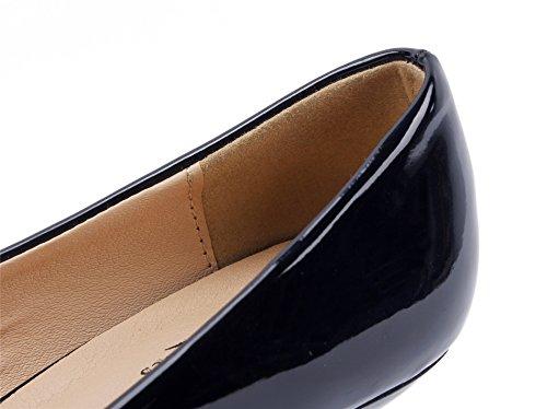 Clouté Shoes Escarpins Toe Noir Talon Chaussures Petit Femme Pointue AgeeMi 0vSqPv