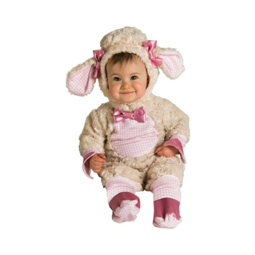Halloween Costumes For Groups Of 6 (Rubies Lucky Lil Lamb Romper Halloween Costume (6-12 Months))
