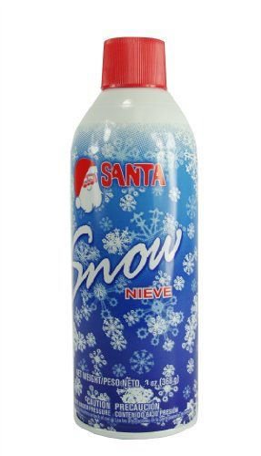 santa snow spray christmas artificial can 9 oz aerosol decoration tree holiday winter fake crafts winter