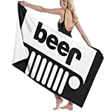UAWG2L Polyester Towels - Jeep Beer Quick Dry Large Bath Towel for Gym, Beach, Family
