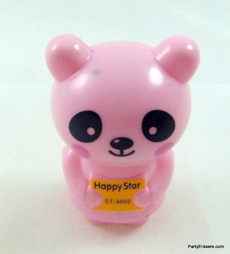 Pink Panda Animal Shape Sharpener PartyErasers
