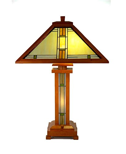 Dale Tiffany Lamps STT17145 Lambert Mission Tiffany Table Lamp with Night (Dale Tiffany Panel)