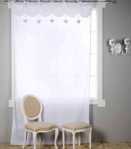 Tenda Arredo 150x300 Sweet Blanc Mariclò A08425 Bianco: Amazon.it ...