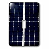 3dRose Alexis Photography - Objects - Dark blue solar power panel divided into two parts by white frame - Light Switch Covers - single toggle switch (lsp_271344_1)