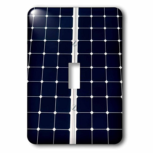 3dRose Alexis Photography - Objects - Dark blue solar power panel divided into two parts by white frame - Light Switch Covers - single toggle switch (lsp_271344_1) by 3dRose