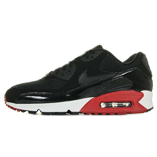 nike air max 90 essential mens running trainers 537384 sneakers shoes (uk 11 us 12 eu 46, black gym red white 066)