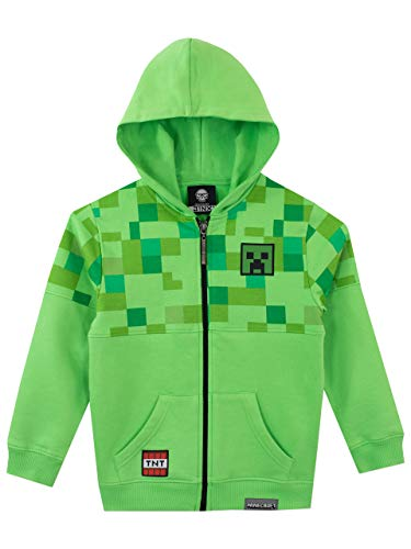 Minecraft Creeper Hoodies (Minecraft Boys' Creeper Hoodie Size 7)