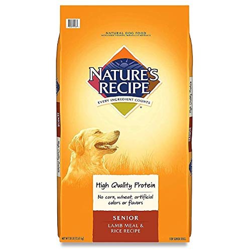Nature's Recipe Mature Dry Dog Food for Senior Dogs, Lamb & Rice