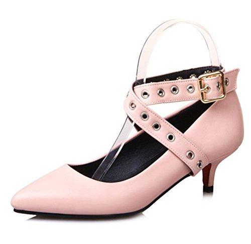 Scarpe Da Donna Eleganti Easemax Con Cinturino Alla Caviglia Con Cinturino Incrociato Scarpe Basse A Punta Alta Con Tacco Basso