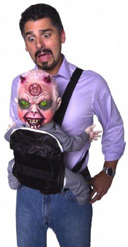 Morbid Enterprises Baby Harness Spinner Satan, Blonde/Red/Blue/Black/Red, One (Halloween Demon Babies)