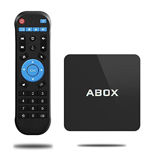 GooBangDoo neuste Android 6.0 Smart Internet TV BOX mit Amlogic s905x Quad Core CPU und Penta core Mali-450MP GPU, 1GB RAM+8GB ROM mit Fernbedienung und LAN Schnittstelle, unterstützt Wirless WiFi