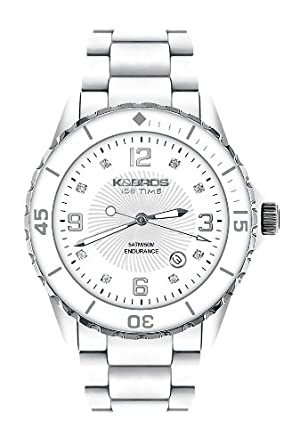 Buy K BROS Women s 9543-2 Ice-Time Color Time Silver and White Watch Online  at Low Prices in India - Amazon.in 4260dcf13d