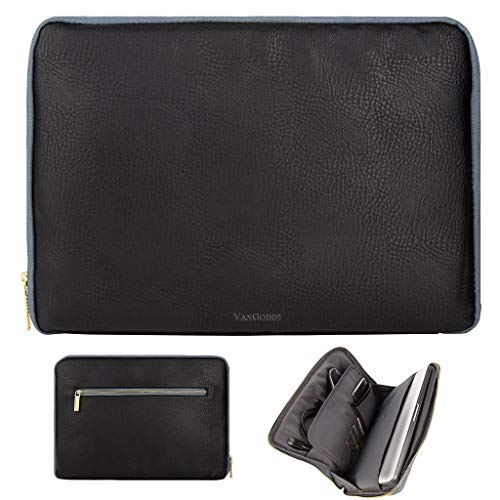 "PU Leather Universal Multi-Pocket 14""-15.6"" Laptop Sleeve Ca"