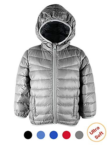 Silvery Star - Century Star Packable Down Coat Light Weight Windproof Outwear Colorful Children Warm Puffer Jacket Silvery 2-3T/Label 110