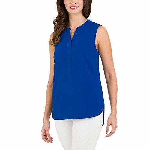 Women's Blouse Sleeveless (Blue) - 7