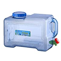 Hainter 18 L Emergency Water & Food Storage Container, Outdoor Reusable Plastic Water Bottle Gallon Jug Storage Container, BPA-Free