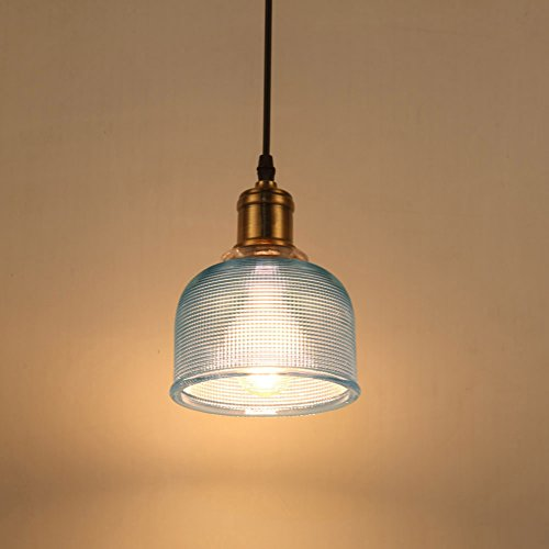 Bright Blue Pendant Light