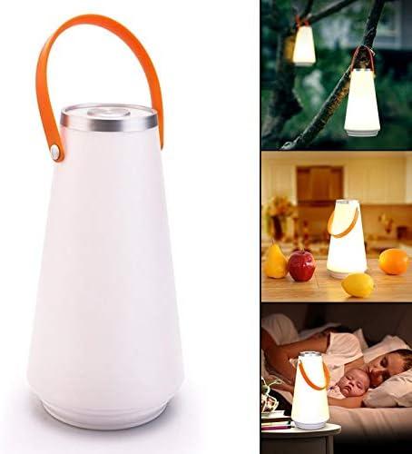 Lámpara de lectura con pilas, linterna sin cuerda de la lámpara, lámpara de mesa de noche portátil para el dormitorio, Led lámpara de escritorio, luz regulable noche por Touch: Amazon.es: Hogar
