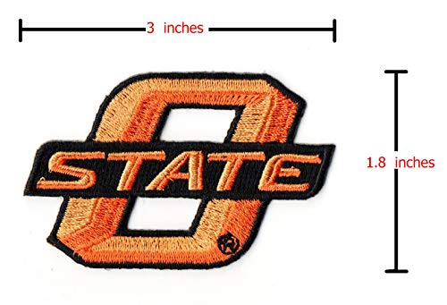 Oklahoma State Cowboys Iron on Patch Embroidered Patches Applique Badge Sew