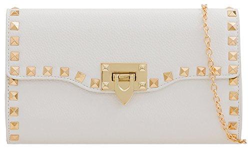 Pearl White Designer Bag Fold Suede Rain Beads Ladies Shine You Clutch v1xwdqqI