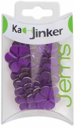 Ka-Jinker Jems Faceted Flower 20/Pkg-Purple
