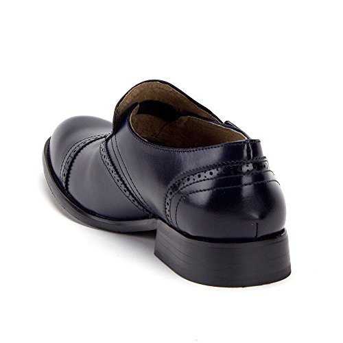 Jaime Aldo Menns Enkelt Munk-stroppen Slip På Perforert Vingespiss Kjole Loafers Sko Navy Cap Toe