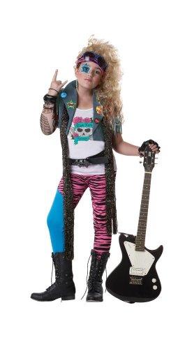California Costumes 80's Glam Rocker Child Costume, Medium -