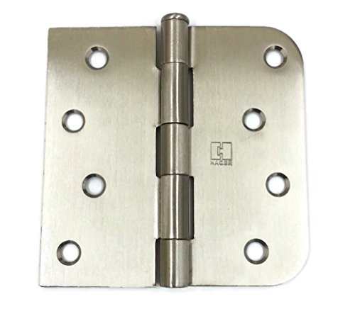 Hager Brass Door Hinge 1543 4 x 4 US15 Satin Nickel, 1 (5 Square Corner)