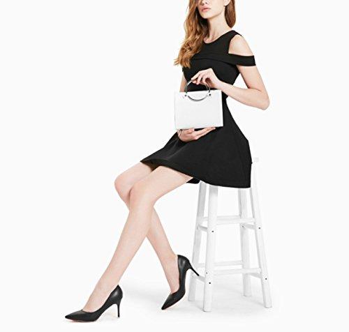 Mode Messager Femme Grand En Fille Vacances De Shopper Sacs Sacs Cabas Sac à à Black Pour Femmes Bandoulière Pour Métal De Sac Main Voyage Cuir dp7vq7w