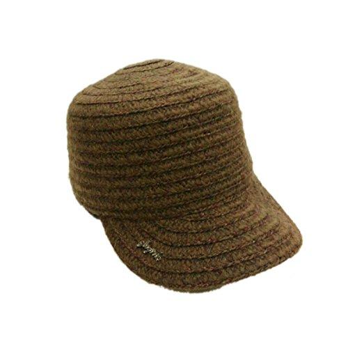 Hat Fashion da Acvip Casco Autumn Woman Winter Coffee Bonnet Riding baseball Knit qCI55ErFwn