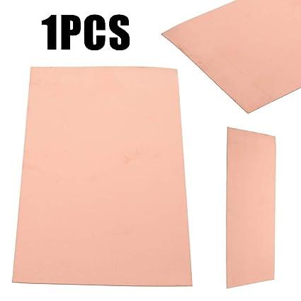 100 x 200x0,5 mm 1pc l/áminas de chapa met/álica de cobre pura y simple,de uso industrial,para tubos,barras,alambres,cintas