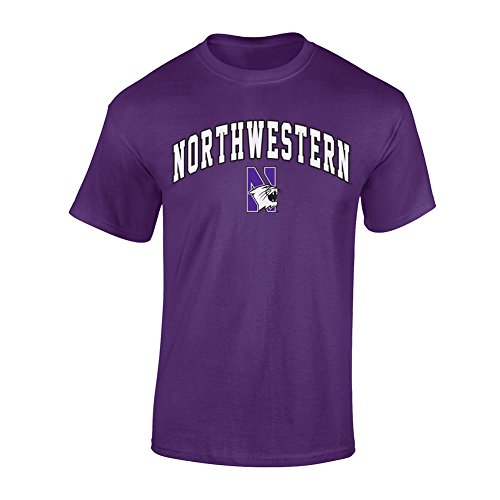 Northwestern Wildcats TShirt Arch Purple - M