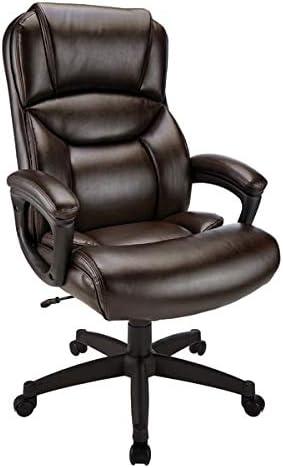 Realspace Fennington Bonded Leather High-Back Chair