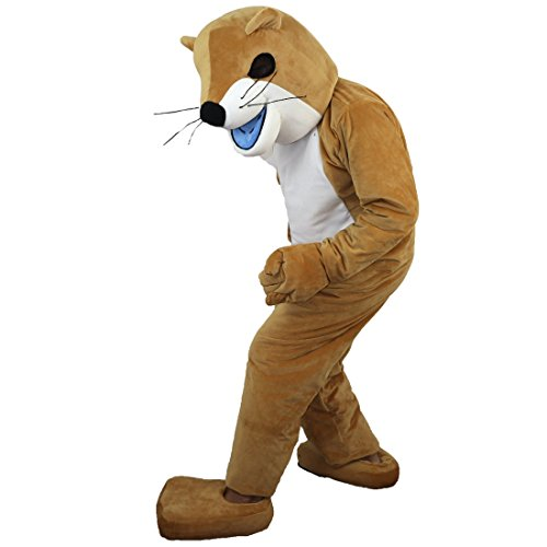 (Langteng Weasel Cartoon Mascot Costume Real Picture 15-20days delivery)