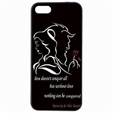 Fashion Cute Carton Beauty And The Beast Rose Quote Plastic Hard