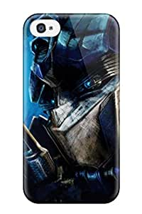First-class Case Cover For Iphone 4/4s Dual Protection Cover Transformers Optimus Prime Artwork