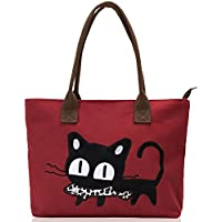 Vintga Women's Cat Handbag (Red)
