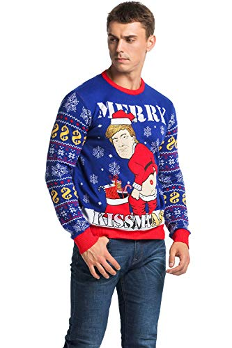 Unisex Men's Knit Christmas Ugly Sweater Funny Cheeky