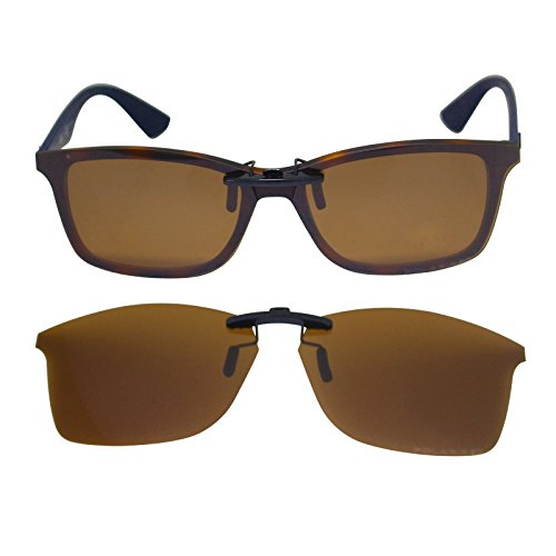 4fc10fee6a353 ogeee Custom Polarized Clip On Sunglasses for RAY-BAN RB7047 (54mm) 54-17-140  Brown - Buy Online in Oman.