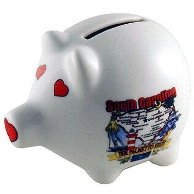Ddi 382650 South Carolina Piggy Bank 3 In  H X 4 In  W State Map Case Of 60
