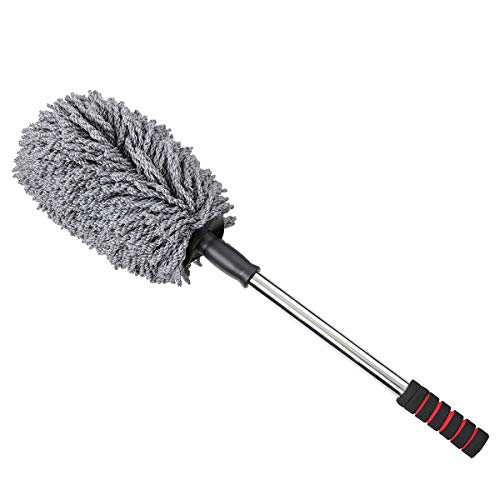 Audew Ultimate Car Duster - The Best Microfiber Multipurpose Duster - For Dust and Snow Removing, Home Cleaning - Exterior or Interior Use - Long Unbreakable Extendable Handle - Lint & Wax Free
