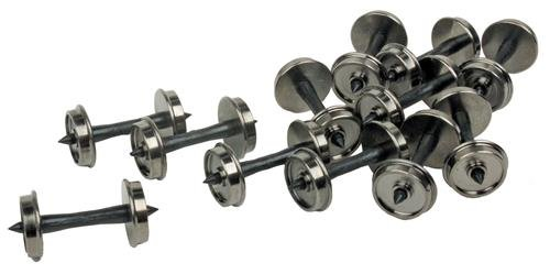 """Walthers Proto HO Scale 36"""" Wheelsets - Metal Wheels/Plastic Axles (12-Pack)"""