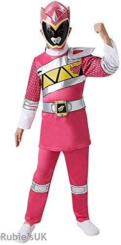 Girls Pink Power Ranger Super Hero Halloween Book Day Week Fancy Dress Costume Outfit (7-8 years, Pink) by Fancy (Power Rangers Outfit)