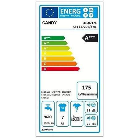 Candy CS4 1272D3/2-S - Lavadora carga frontal 7kgs, 1200rpm, clase ...