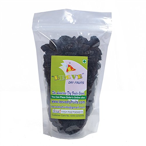 Leeve Dry Fruits Seedles Black Raisins 400 Gms by Leeve Dry Fruits