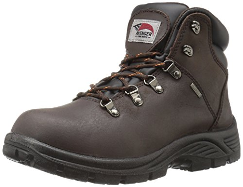 ear Men's Avenger 7625 Leather Waterproof Soft Toe EH Work Boot Industrial and Construction Shoe, Brown, 10 M US (Brown Footwear)