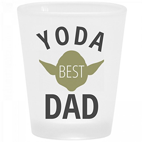 Yoda Best Dad Frosted Shot Glass: Frosted Shot (Customizable Shot Glasses No Minimum)