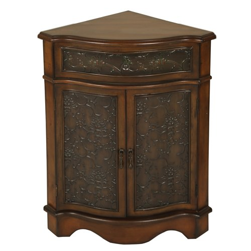 - Welcome Home Accents Walnut Corner Cabinet