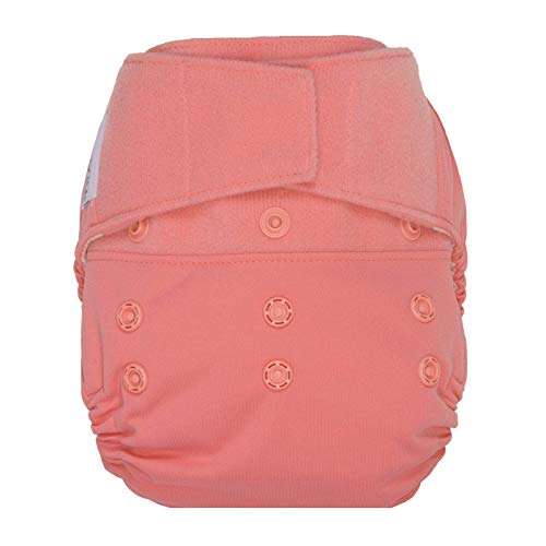 GroVia Reusable Hybrid Baby Cloth Diaper Hook & Loop Shell (Rose) (Grovia Pants Training)