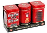 English Tea in Miniature Tins, Traditions of Britain - Heritage Mini Tins Gift Pack